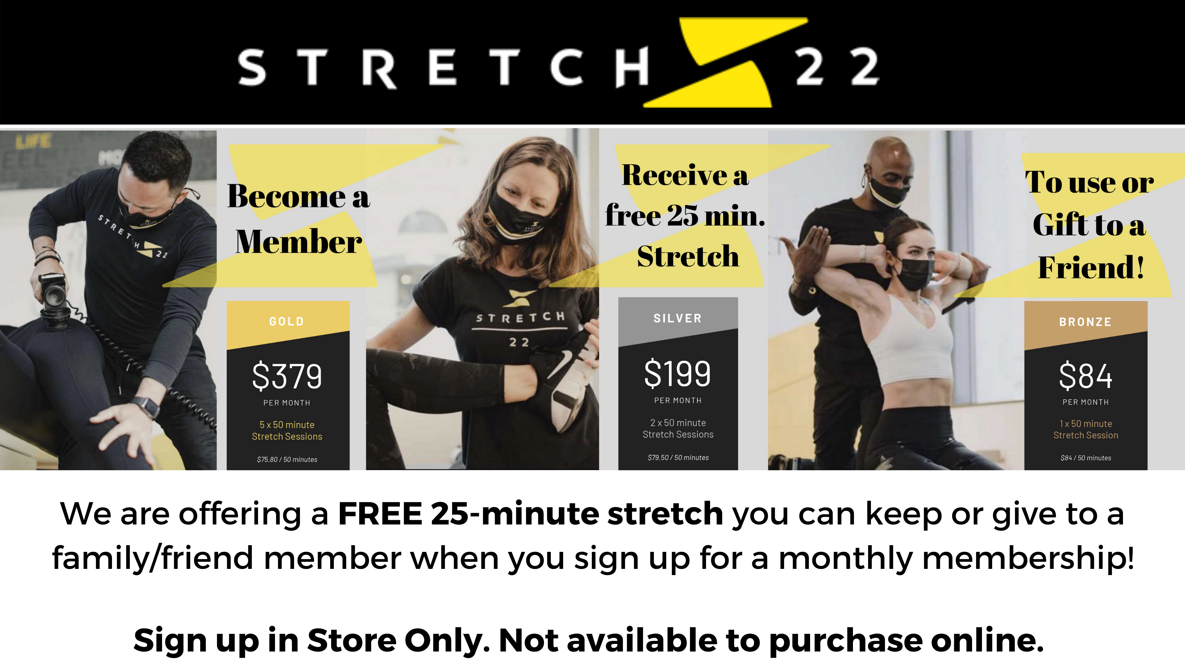 We are offering a FREE 25 minute stretch